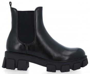 Čierne členkové topánky na platforme Naomi