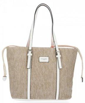 Ratanové tašky pre ženy Shopper taška David Jones Biela