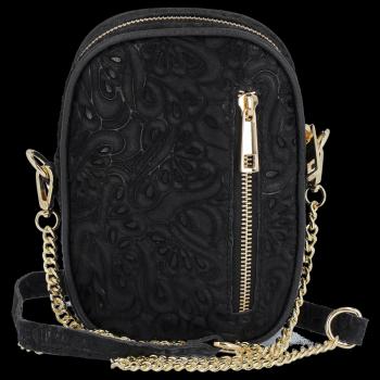 Módne kožené tašky šikovný posol od Vittoria Gotti čierny