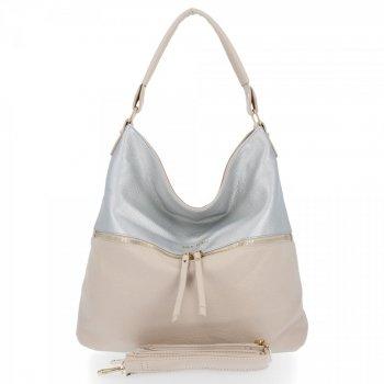 Bee taška štýlová univerzálna dámska taška XL Zelia Beeg / strieborná