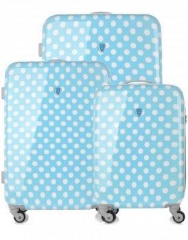 Módna sada kufrov 3v1 slávnej značky Madisson modrý