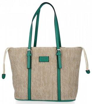 Ratanové tašky pre ženy Shopper taška David Jones zelený