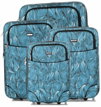 Unikátna sada kufrov 4v1 od známej značky Madisson Multicolor-modrý