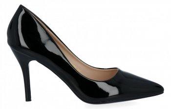 Čierne patent kožené dámske podpätky Bellucci