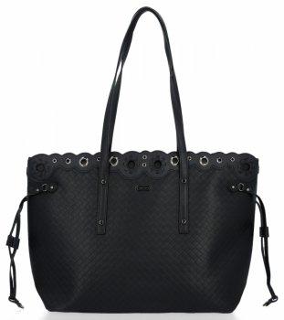 Módne klasické dámske tašky XL David Jones čierny