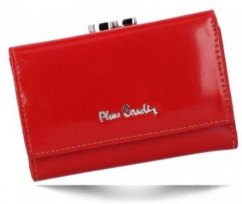 Poręczny Skórzany Portfel Damski firmy Pierre Cardin Czerwony