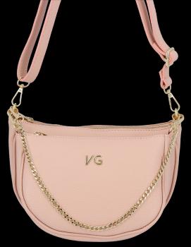 Módne kožené tašky 2 v 1 od spoločnosti Vittoria Gotti vyrobené v Taliansku v prášku ružovej
