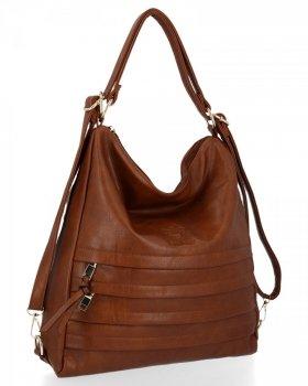 BEE BAG je univerzálna dámska taška s funkciou batohu Judite hnedý