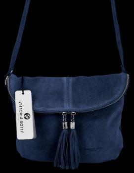 Univerzálna kožená príležitostná taška na messenger M-size od Vittoria Gotti Granet