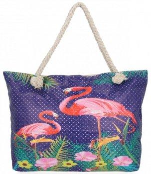 Dámske prelamované taška je ideálny pre letné plameniak vzor fialovej