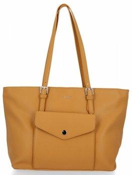 Univerzálna Klasická dámska taška veľkosti XL David Jones žltý