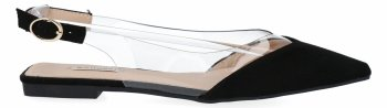 Čierne elegantné dámske sandále s výstrihom do V Bellucci