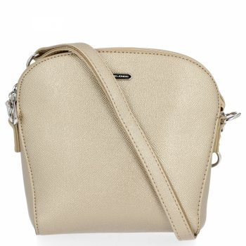 David Jones univerzálna taška dámska taška cez rameno pre voľný čas zlotý