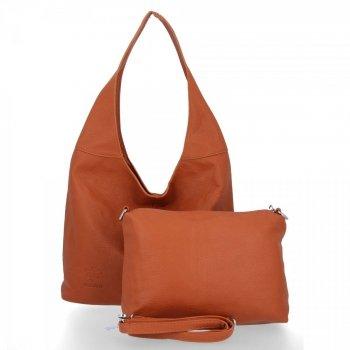 Bee Bag univerzálne Dámske tašky 2v1 Shopper s poštár Lena Ruda