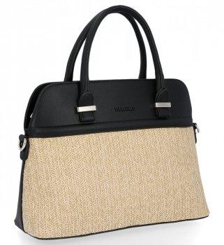 David Jones Firemná taška dámska módna taška cez rameno Čierna