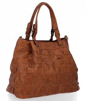 Modne Torebki Damskie Andrea Massi Shopper Bag Ruda
