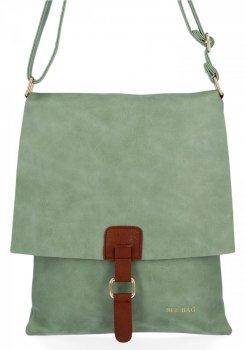 BEE Bag Módne Dámske Messenger Bag XL Napoli Svetlo zelená