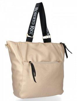 Roberto Ricci Fashion XL zlotý dámska taška cez rameno