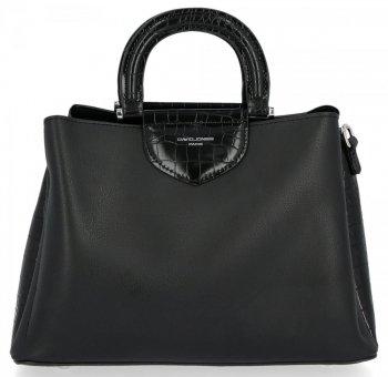 Elegantná dámska taška s tromi priehradkami David Jones čierny