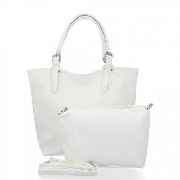 BEE Bag firemné Dámske tašky 2v1 Shopper s poštár Linda Biela
