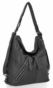 Univerzálna dámska taška Grace Bags batoh Grey
