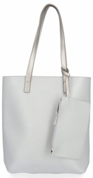 Klasická dámska taška s vreckom David Jones Silver