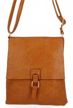 BEE Bag štýlové dámske tašky poštári Seville svetlo červená