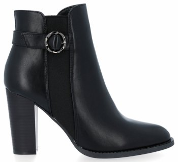 Elegantné čierne členkové topánky s Louise podpätky