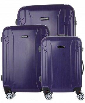 Sada kufrov 3v1 slávnej značky Madisson purple