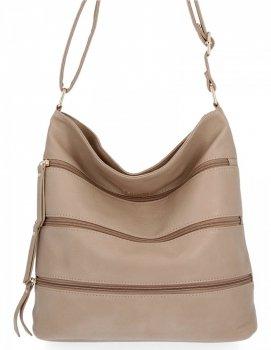 BEE Bag univerzálne Dámske tašky XL Celine tmavo béžová