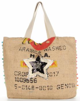 Značka veľkosti XXL dámska taška je odolná a priestranná ideálna pre letnú čiernu hviezdu