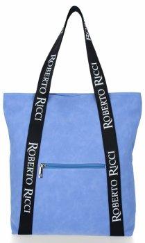 Značková dámska nákupná taška s módnymi popruhmi Roberto Ricci modrý
