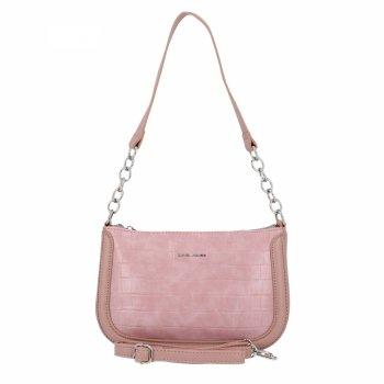 David Jones elegantné dámske kabelky módne Crossbody tašky v zvieracom štýle Ružová