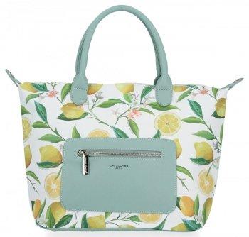 Módna dámska taška s Kvetinovou potlačou z mäty David Jones