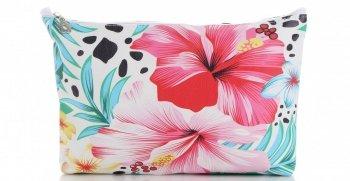 Módne kozmetické tašky veľkosti S David Jones Kvetinový vzor viacfarebný ružový