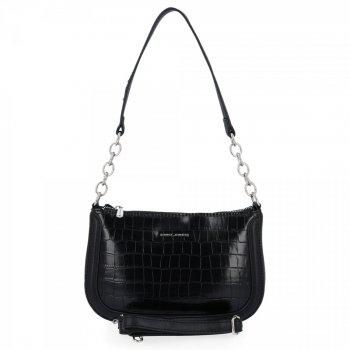 David Jones elegantné dámske kabelky módne Crossbody tašky v zvieracom štýle čiernej