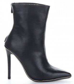 Elegantné dámske stiletto členkové topánky Sergio Todzi čierny