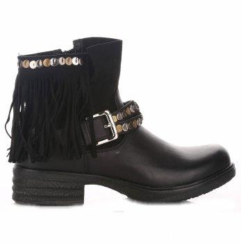 Dámske čierne členkové topánky
