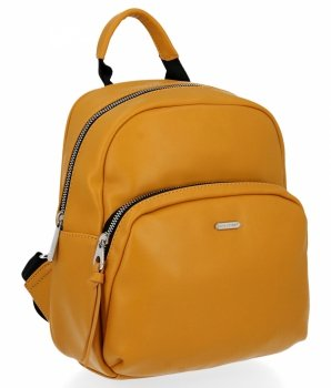 Univerzálny dámsky batoh 100% Vegan David Jones žltý