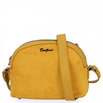Univerzálna dámska taška na posol pre všetky príležitosti David Jones žltý