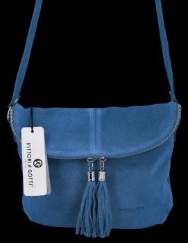 Univerzálna kožená príležitostná taška na messenger veľkosť M od Vittoria Gotti Jeans