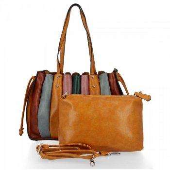 Módna dámska nákupná taška z horčice David Jones