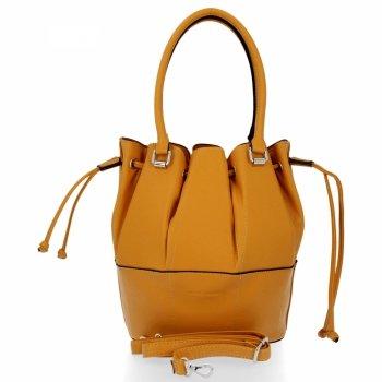 Módna a všestranná príležitostná dámska taška David Jones žltý