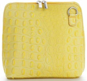 Talianska Kožená taška na messenger vyrobená z pravej kože so vzorom krokodílového vápna
