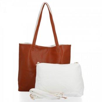 Venere Dámske tašky nastaviť 2v1 Shopper s poštár Červená