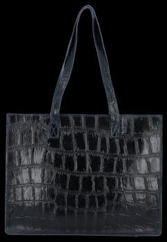 Vittoria Gotti klasická Kožená taška v módnom korytnačkovom granátovom štýle