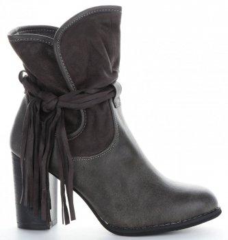 Dámske členkové topánky s podpätkami Lady Glory gray