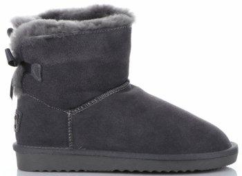 Talianske kožené členkové topánky dámske zimné topánky s prírodnou kožušinou šedou