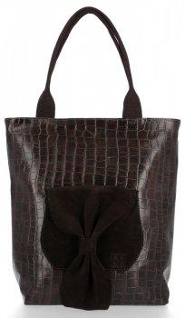 Štýlové dámske tašky s lukom od Roberta Ricci pravého semišu / eko koža hnedá
