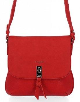 Univerzálna dámska taška David Jones červený